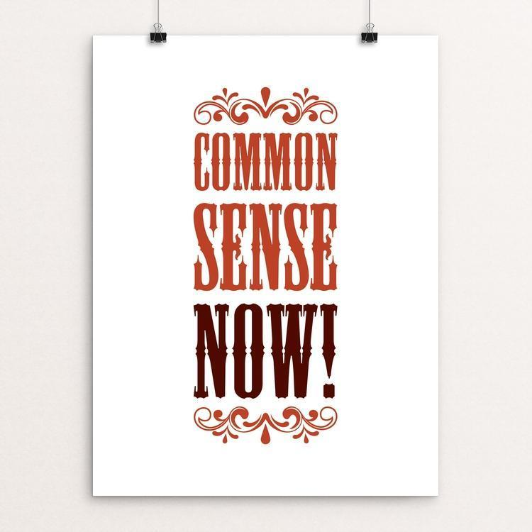 "Common Sense NOW! by Darrell Stevens 12"" by 16"" Print / Unframed Print The Gun Show"