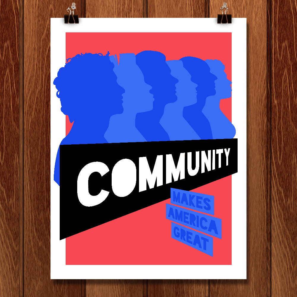 "Community by Micaela Brody 12"" by 16"" Print / Unframed Print What Makes America Great"