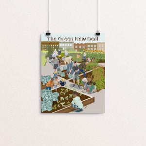 "Community Gardens by Lyla Paakkanen 8"" by 10"" Print / Unframed Print Green New Deal"