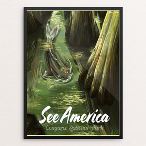"Congaree National Park by Allison Pardieck 12"" by 16"" Print / Framed Print See America"