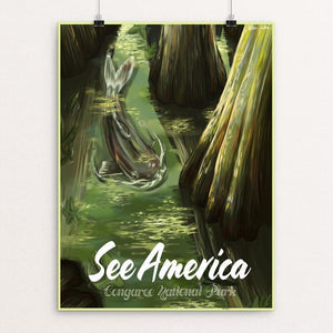 "Congaree National Park by Allison Pardieck 12"" by 16"" Print / Unframed Print See America"