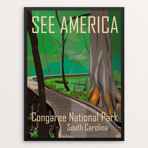 "Congaree National Park by Kara Gunter 12"" by 16"" Print / Framed Print See America"