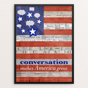 "Conversation by Elizabeth DeLuna 12"" by 16"" Print / Framed Print What Makes America Great"