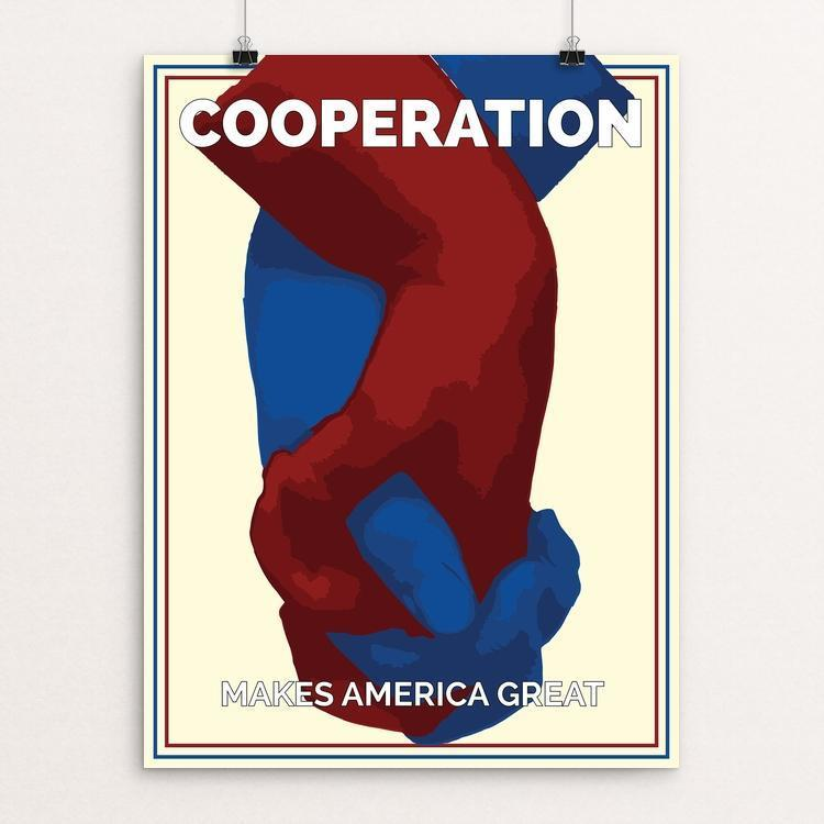 "Cooperation by John B Hynes 12"" by 16"" Print / Unframed Print What Makes America Great"