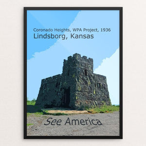 "Coronado Heights Castle by Rodney Buxton 12"" by 16"" Print / Framed Print See America"