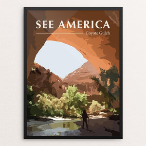 "Coyote Gulch by Erin Anderson 12"" by 16"" Print / Framed Print See America"