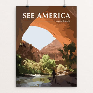 "Coyote Gulch by Erin Anderson 12"" by 16"" Print / Unframed Print See America"