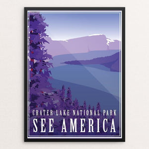 "Crater Lake National Park by Ann-Christine Pineiro 12"" by 16"" Print / Framed Print See America"