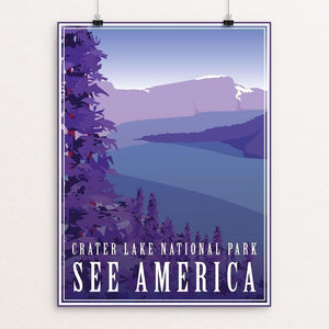 "Crater Lake National Park by Ann-Christine Pineiro 12"" by 16"" Print / Unframed Print See America"