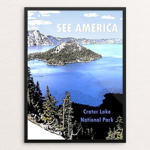 "Crater Lake National Park by Marcia Brandes 12"" by 16"" Print / Framed Print See America"