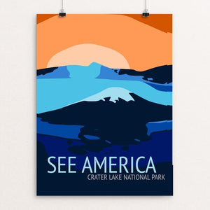 "Crater Lake National Park by Tamela Maciel 12"" by 16"" Print / Unframed Print See America"