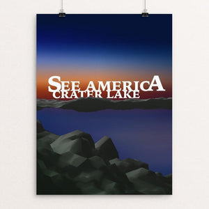 "Crater Lake National Park by Vivien Hall 12"" by 16"" Print / Unframed Print See America"