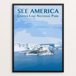 "Crater Lake National Park by Zack Frank 12"" by 16"" Print / Framed Print See America"