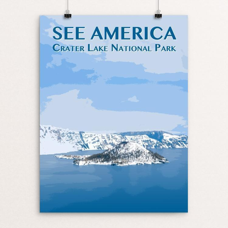 "Crater Lake National Park by Zack Frank 12"" by 16"" Print / Unframed Print See America"
