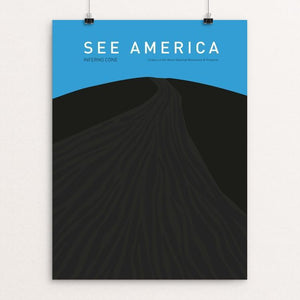 "Craters of the Moon National Monument and Preserve  by Louise Norman 12"" by 16"" Print / Unframed Print See America"