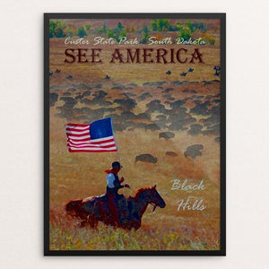 "Custer State Park by Melody Gilmore 12"" by 16"" Print / Framed Print See America"