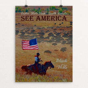 "Custer State Park by Melody Gilmore 12"" by 16"" Print / Unframed Print See America"