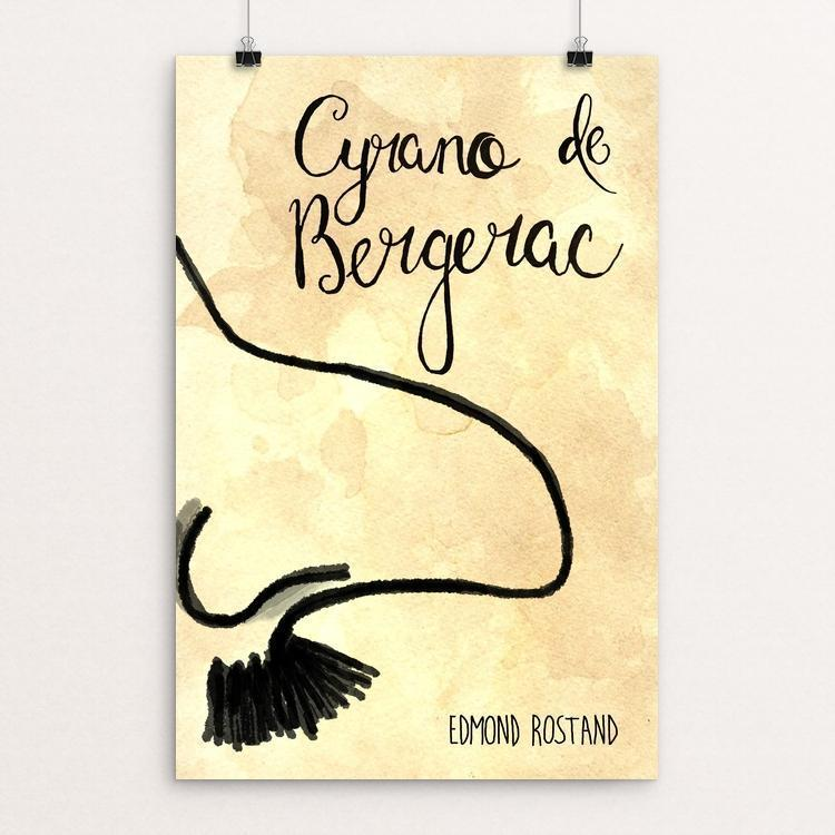 "Cyrano de Bergerac by Heidi Wachtel 12"" by 18"" Print / Unframed Print Recovering the Classics"