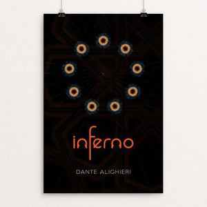 "Dante's Inferno by Nick Fairbank 12"" by 18"" Print / Unframed Print Recovering the Classics"