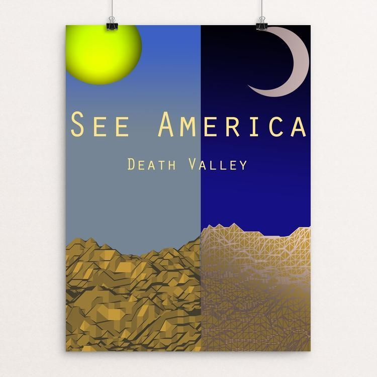 "Death Valley by Santino W 12"" by 16"" Print / Unframed Print See America"