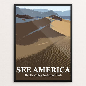 "Death Valley National Park by Bill Vitiello 12"" by 16"" Print / Framed Print See America"