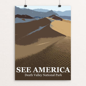 "Death Valley National Park by Bill Vitiello 12"" by 16"" Print / Unframed Print See America"