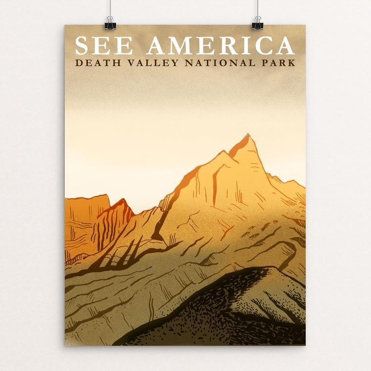 "Death Valley National Park by Elizabeth Beier 12"" by 16"" Print / Unframed Print See America"