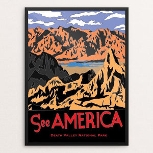 "Death Valley National Park by Joshua Sierra 12"" by 16"" Print / Framed Print See America"