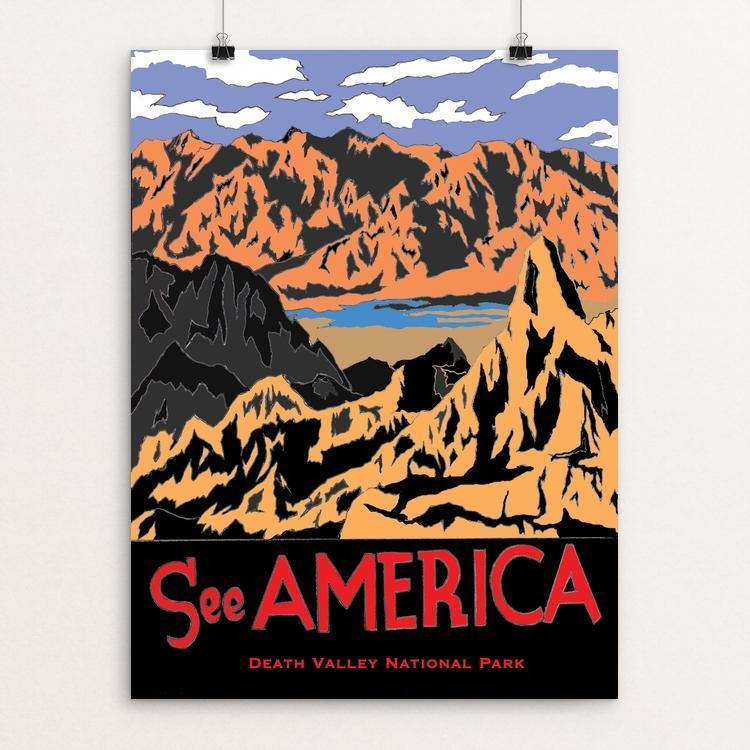 "Death Valley National Park by Joshua Sierra 12"" by 16"" Print / Unframed Print See America"