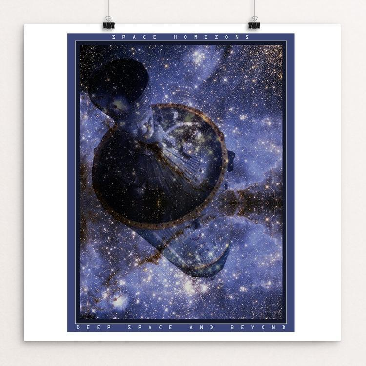 "Deep Space and Beyond by Bryan Bromstrup 12"" by 12"" Print / Unframed Print Space Horizons"
