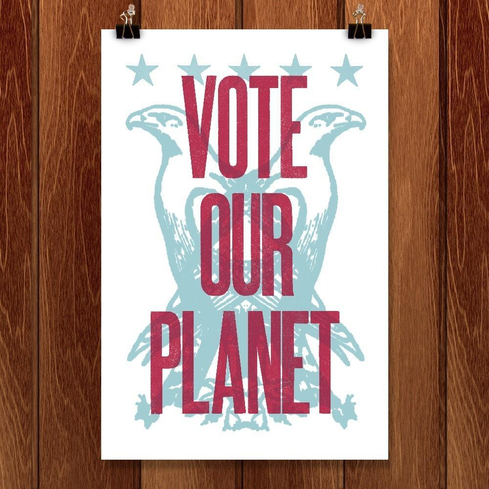 "Defend America by Mister Furious 12"" by 18"" Print / Unframed Print Vote Our Planet"
