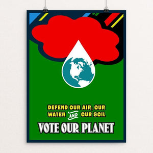 "Defend Our Environment by Bob Rubin 12"" by 16"" Print / Unframed Print Creative Action Network"