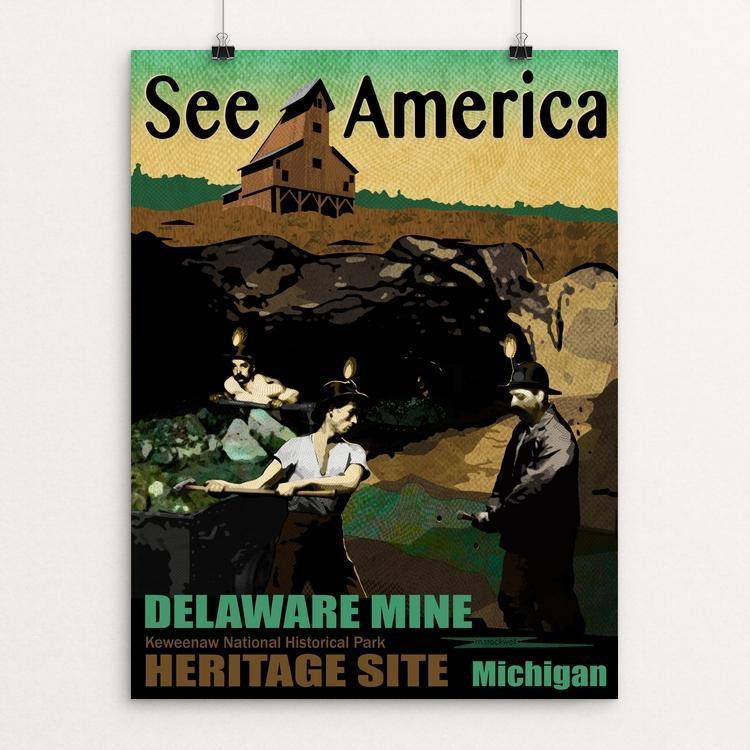 "Delaware Mine by Mike Stockwell 12"" by 16"" Print / Unframed Print See America"