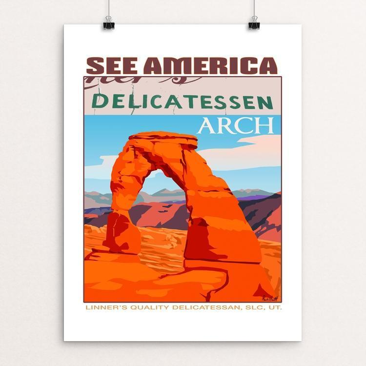 "Delicate Arch, Arches National Park by Paul Heath 12"" by 16"" Print / Unframed Print See America"