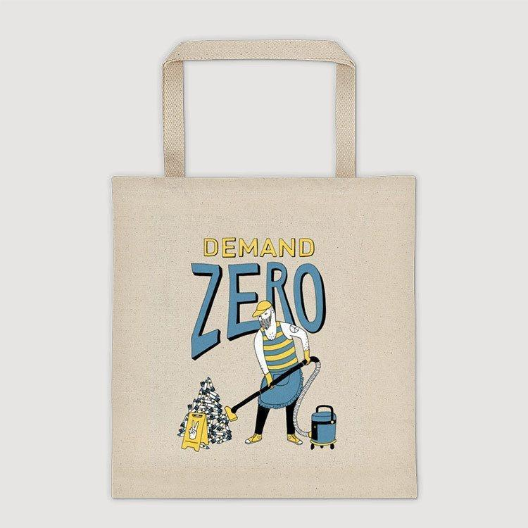 Demand Zero Tote Bag by Naomi Sloman Tote Bag Demand Zero