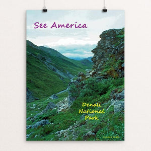 "Denali National Park and Preserve 2 by Anthony Chiffolo 18"" by 24"" Print / Unframed Print See America"