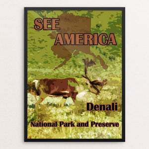 "Denali National Park and Preserve 2 by Eitan S. Kaplan 12"" by 16"" Print / Framed Print See America"