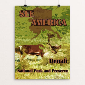 "Denali National Park and Preserve 2 by Eitan S. Kaplan 12"" by 16"" Print / Unframed Print See America"