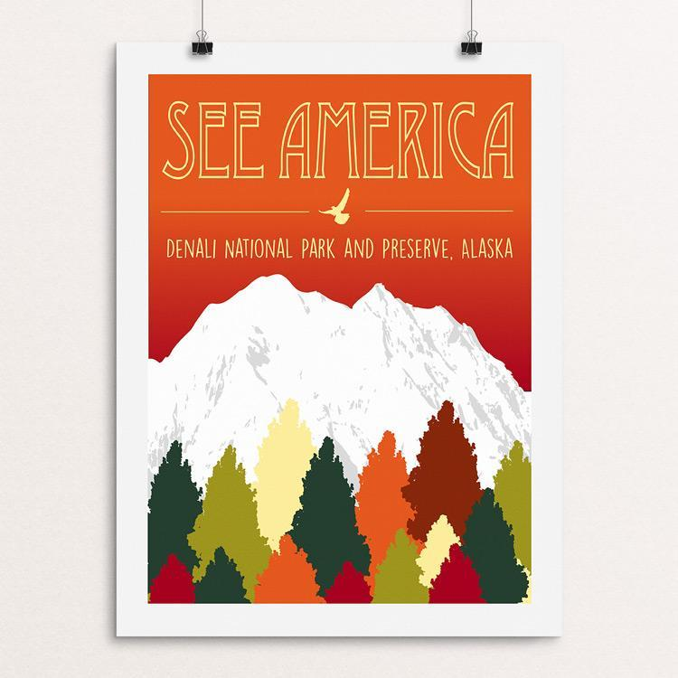 "Denali National Park and Preserve by Alena Robinson 18"" by 24"" Print / Unframed Print See America"