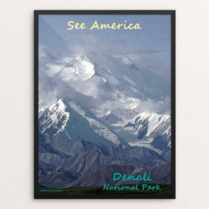 "Denali National Park and Preserve by Anthony Chiffolo 12"" by 16"" Print / Framed Print See America"
