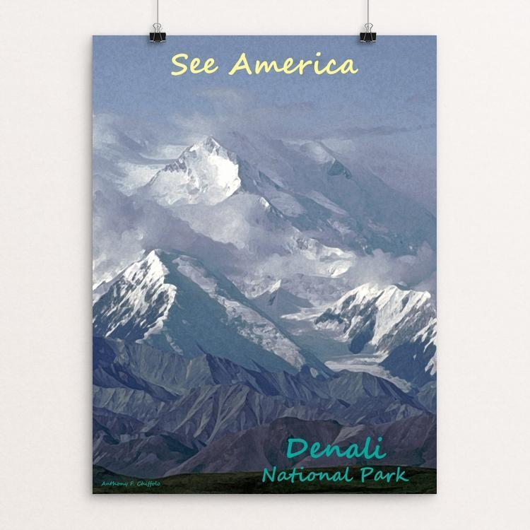 "Denali National Park and Preserve by Anthony Chiffolo 12"" by 16"" Print / Unframed Print See America"