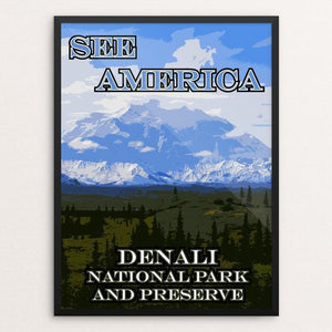"Denali National Park and Preserve by Eitan S. Kaplan 12"" by 16"" Print / Framed Print See America"