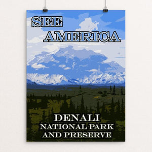 "Denali National Park and Preserve by Eitan S. Kaplan 12"" by 16"" Print / Unframed Print See America"