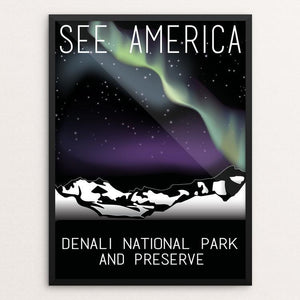 "Denali National Park and Preserve by Greysen Gilroy 12"" by 16"" Print / Framed Print See America"