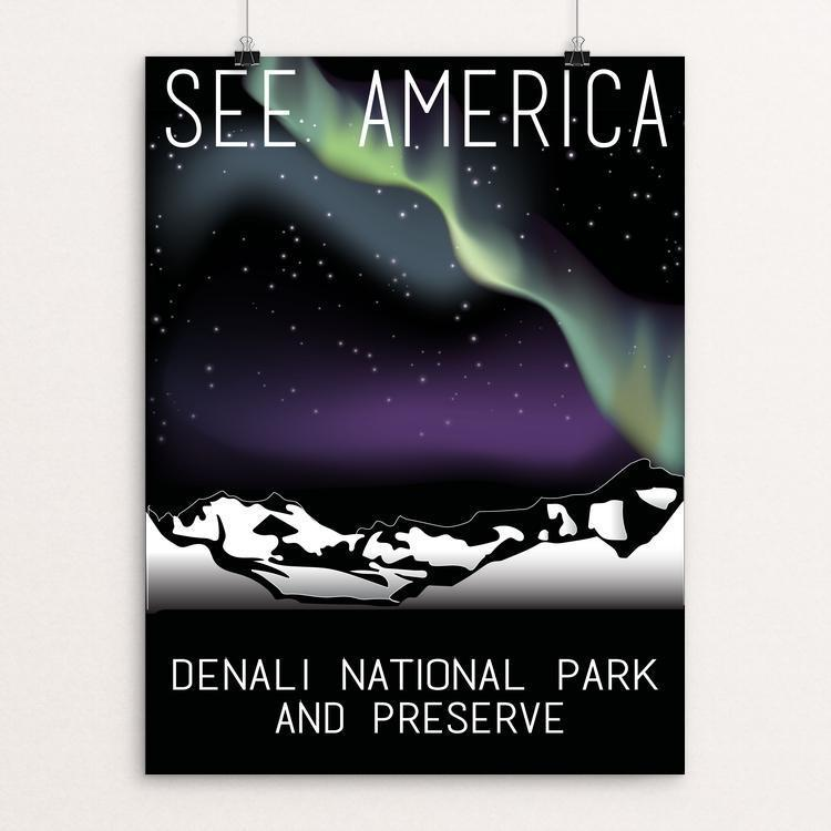 "Denali National Park and Preserve by Greysen Gilroy 12"" by 16"" Print / Unframed Print See America"