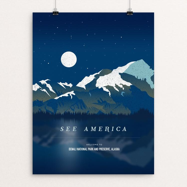 "Denali National Park and Preserve by Jenn Brigham 12"" by 16"" Print / Unframed Print See America"