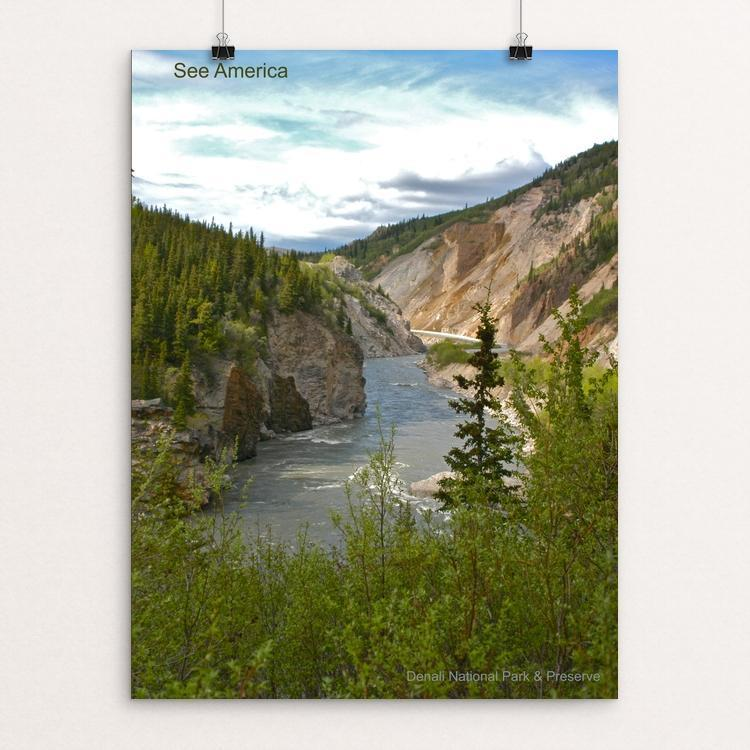 "Denali National Park and Preserve by Mac Titmus 12"" by 16"" Print / Unframed Print See America"