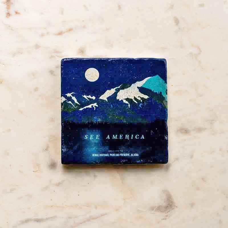 Denali National Park and Preserve Coaster by Jenn Brigham Coaster See America