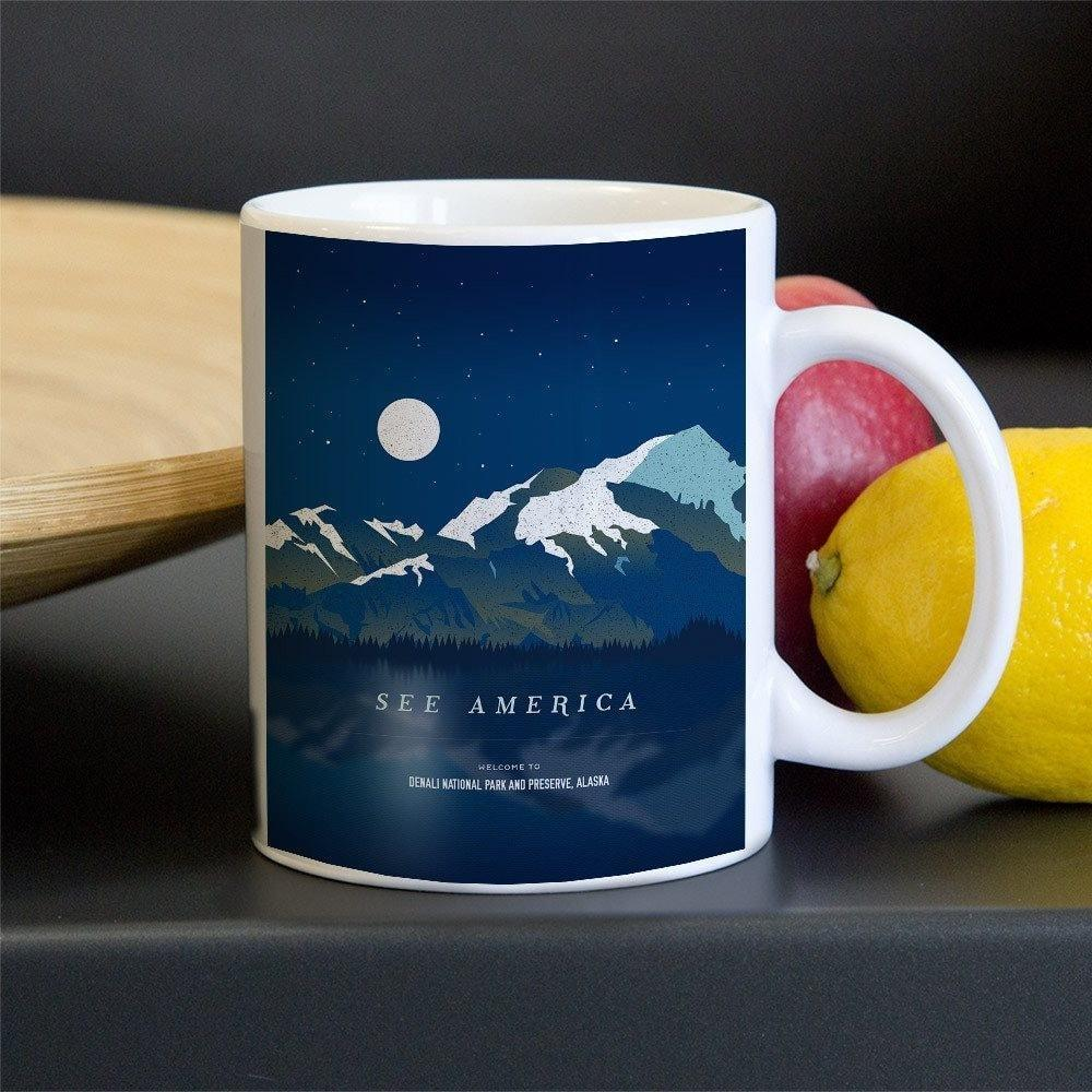 Denali National Park and Preserve Mug by Jenn Brigham 11oz Mug See America