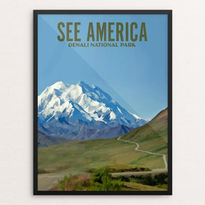 "Denali National Park by Ike Loveland 12"" by 16"" Print / Framed Print See America"